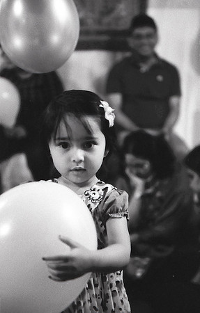 The girl with her balloon