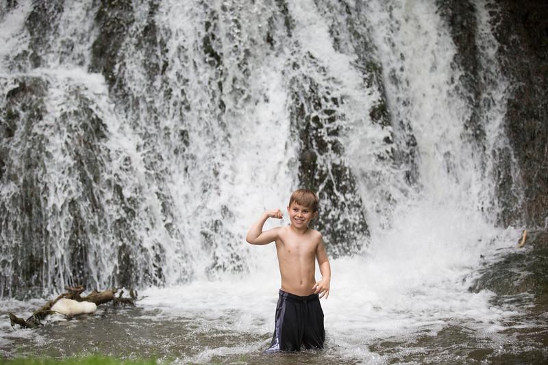 Kids in waterfall (31 of 39)