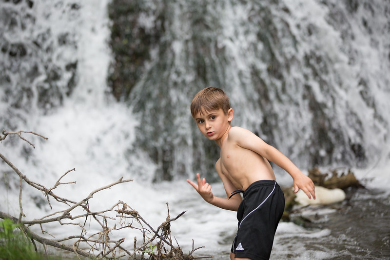Kids in waterfall (13 of 39)