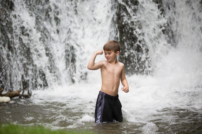 Kids in waterfall (30 of 39)