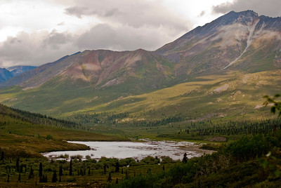 a valley with residual memory of arctic winter