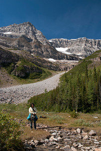 at Plain of Six Glaciers