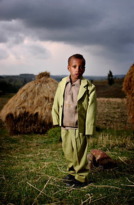 picture Paul Chappells, The Daily Record, Picture of  Ethiopian boy Bazezew Getachew aged 5,  Bazezew and his family live in a remote village in north eastern Ethiopia, the only hospital is 4 days walk away and life is a very hard daily struggle to survive.Bazezew is one of the lucky children as his family has been sponsored by a Scottish family and receive help to produce food and education on health issues.