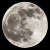 The full moon before the Passover eclipse on the morning of April 15, 2014.
