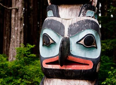 Raven Crest Totem Pole