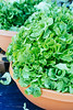 Fresh gren lettuce for sale at an oudoors farmers market