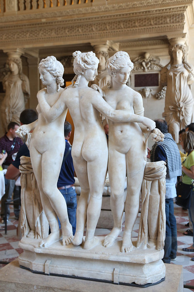 The Three Graces , The Louvre<br /> Paris, France - 09.01.13<br /> Credit: Jonathan Grassi