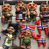 Open House Imports Troll collection<br /> The Mount Horeb area is known as the Troll capital of the world.  It was first settled by a large troll believing Norwegian population in the late 1800's.  Many sculptures of trolls can be seen along the Trollway, enticing visitors to stop, shop and celebrate the town's heritage.<br /> <br /> Mount Horeb, Wisconsin - 09.15.13<br /> Credit: Jonathan Grassi