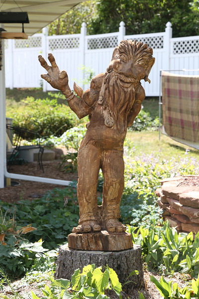 Troll<br /> The Mount Horeb area is known as the Troll capital of the world.  It was first settled by a large troll believing Norwegian population in the late 1800's.  Many sculptures of trolls can be seen along the Trollway, enticing visitors to stop, shop and celebrate the town's heritage.<br /> <br /> Mount Horeb, Wisconsin - 09.15.13<br /> Credit: Jonathan Grassi