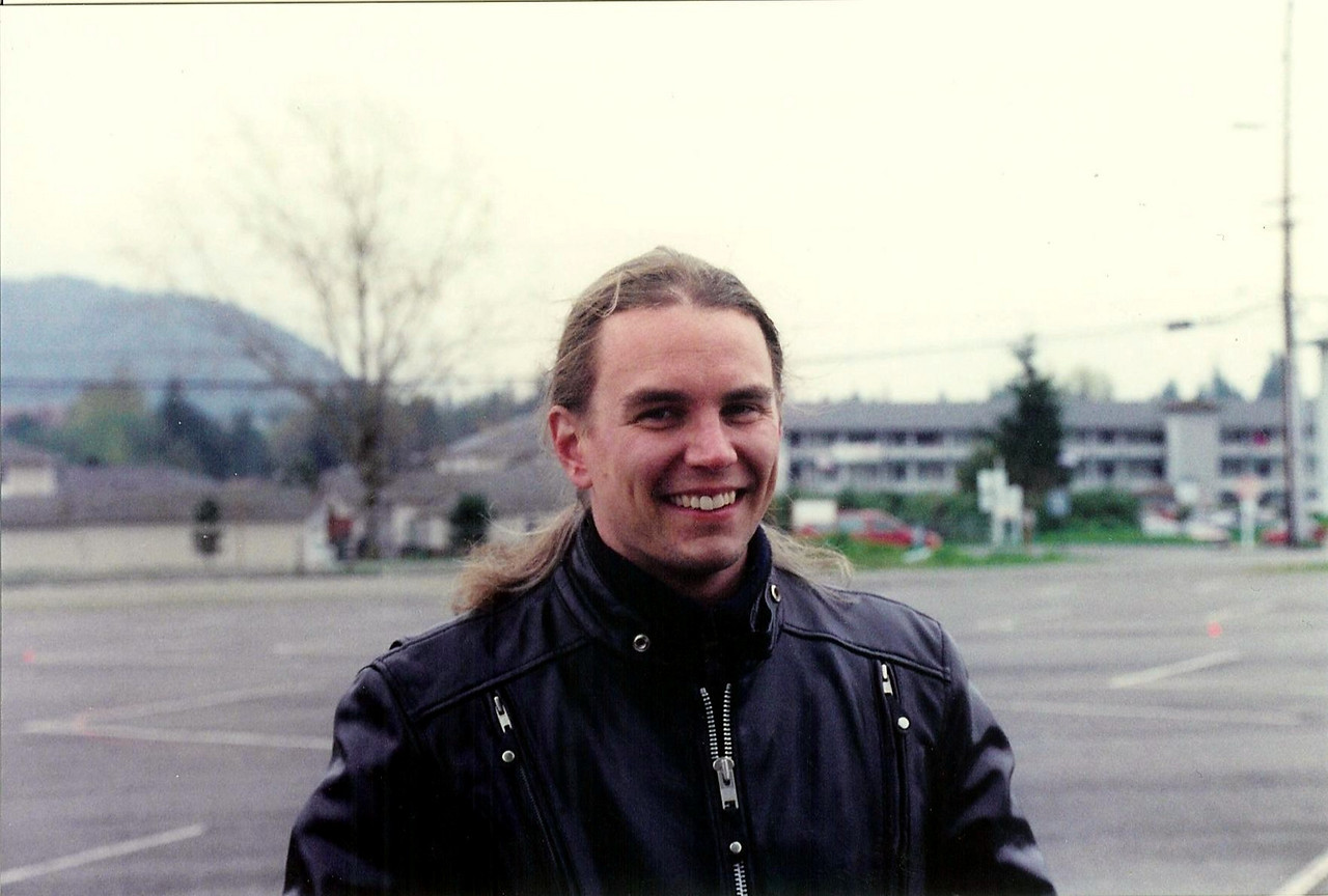 Motorcycle training class in April 2002.