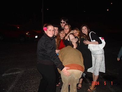 Group pic on parking lot (Crazy's ass)