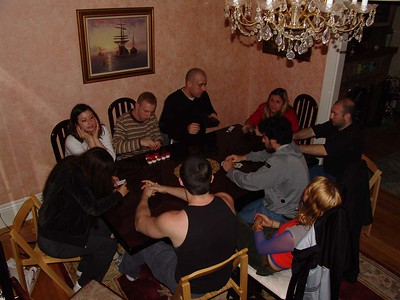 Poker time - shot from 2nd floor