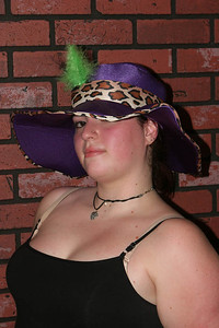 Vica in pimp hat