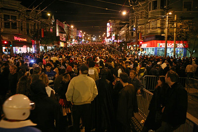 Packed street