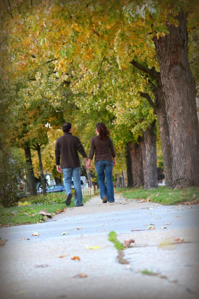 walking trees crisp dark edges