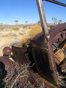 Came across this old car in the middle of the desert
