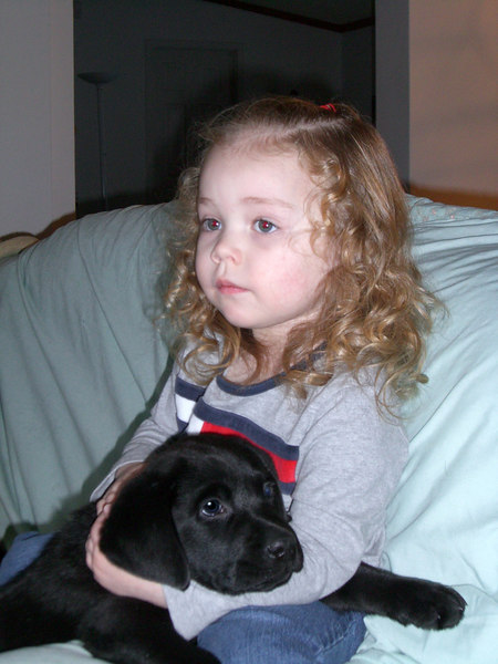 Kimber and Sammy at Dad's house.