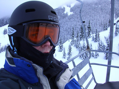 Stevens Pass - all alone on the chair lift.