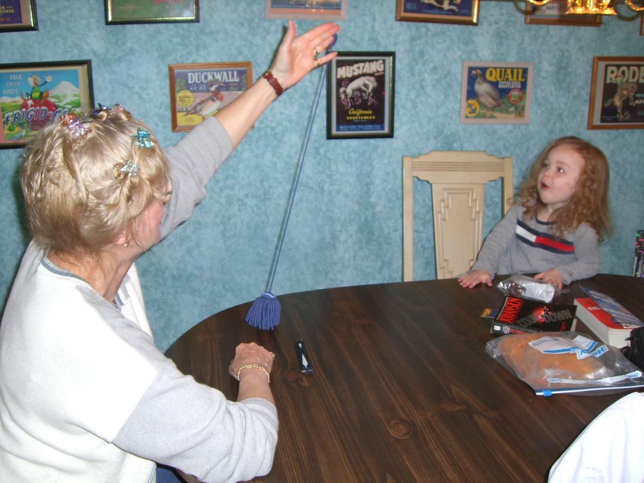 Grandma and Kimber singing Itsy-Bitsy-Spider.