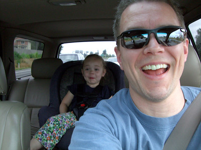On our way to the Seattle Aquarium...playing in the truck. :)