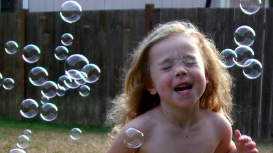 More bubbles and more running through them.