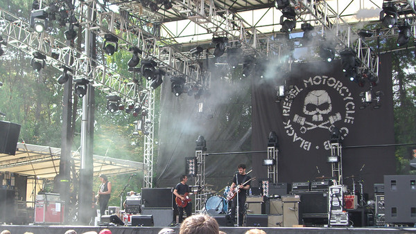Black Rebel Motorcycle Club on the main stage.