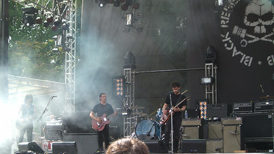 Black Rebel Motorcycle Club...we were probably 30-40 feet from the stage.