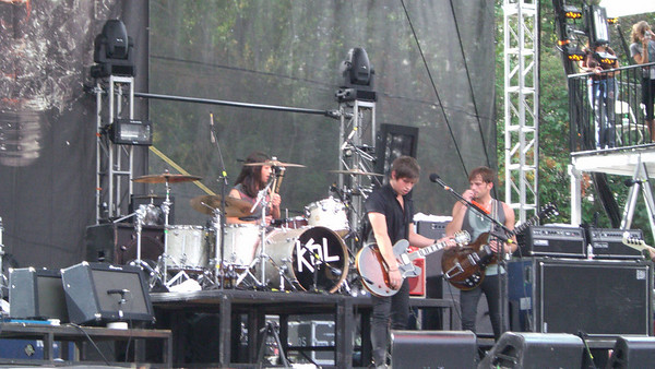 Kings of Leon on the main stage.