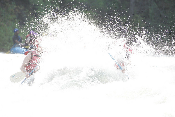 Rafting the Tieton river...LOTS of water.