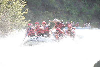 Rafting the Tieton river...look at us screaming (or laughing).