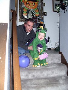 Daddy and Kimber just before hitting the streets.