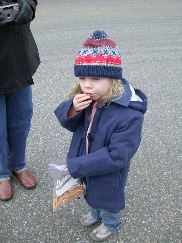 OMG, this looks like my little girl is taking a drag from a doobie. Those are pretzels...really!