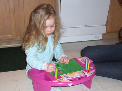 Playing with her presents - Christmas Eve with Whitney