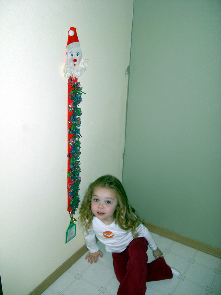 """Yearning for some candy from the Santa """"Candy Cane"""" Countdown made by Grandmama Carol. """"Just one daddy?"""" :)"""