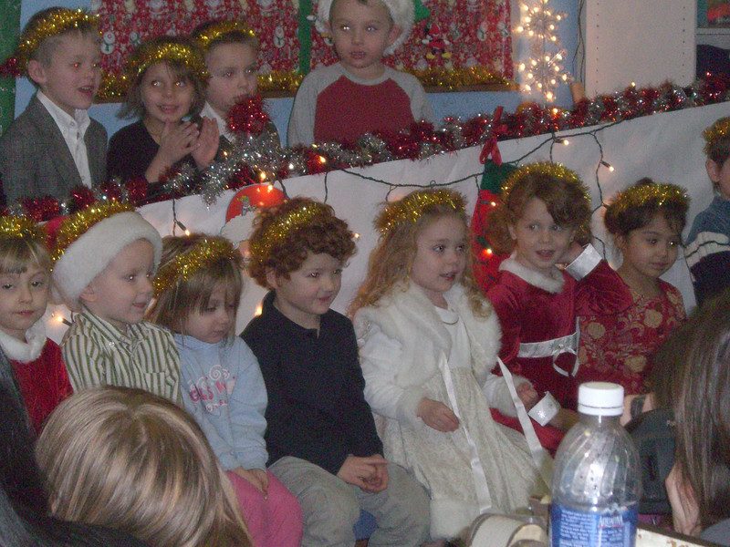 The daycare Christmas program (sing-along).