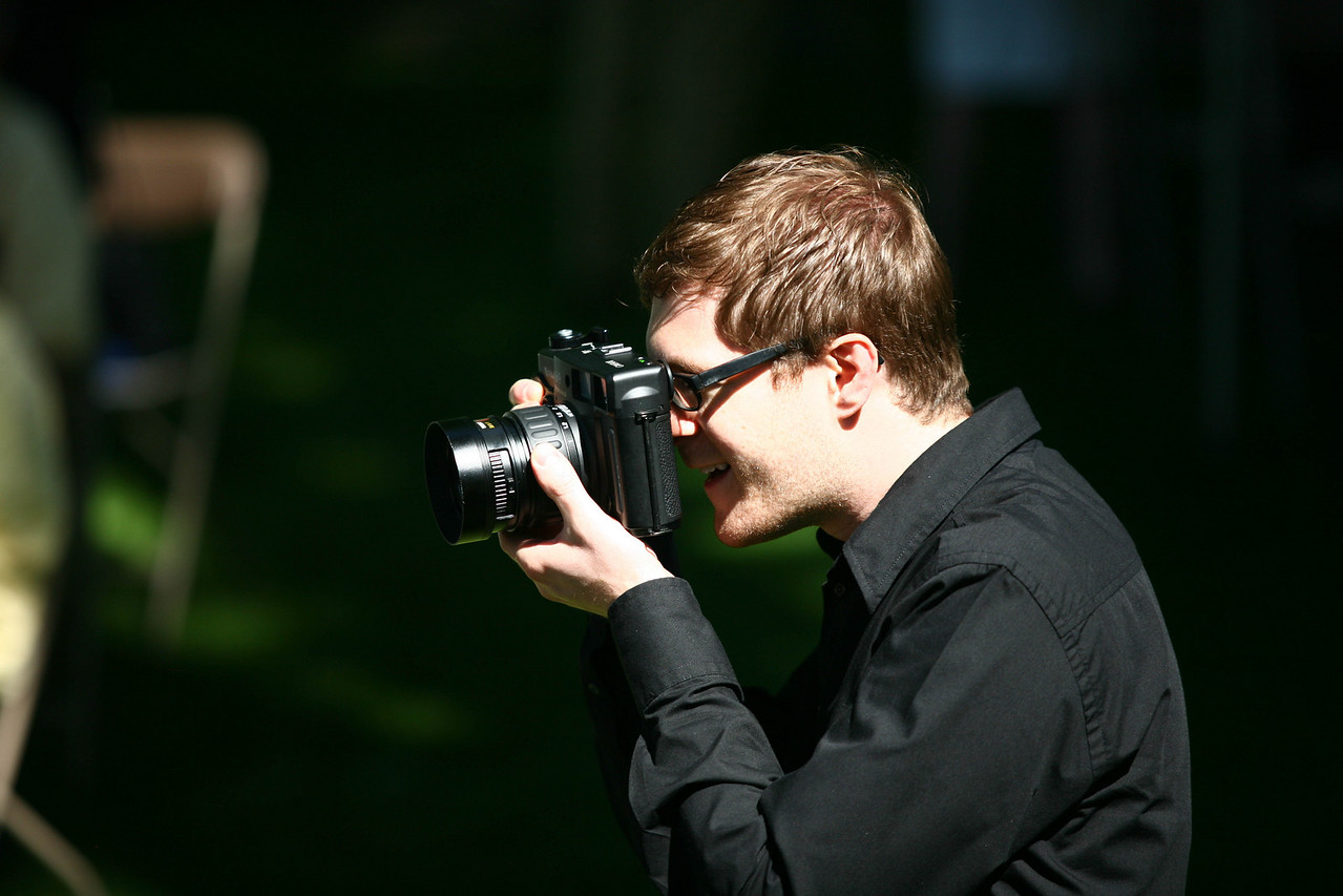 Quite the camera. Medium format??