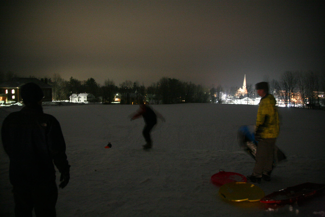 Sledding the BBA hill