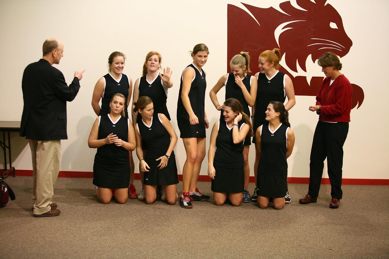 Unofficial girls squash team shot