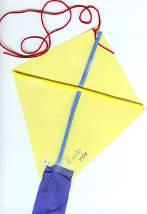Back of a kite made at daycare. 3.7.2008