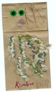 I think this is a worm made out of a paper bag, like a puppet. 4.24.2008