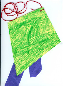 Front of her kite made at daycare. 3.7.2008