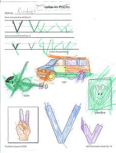 The letter V. 4.28.2008
