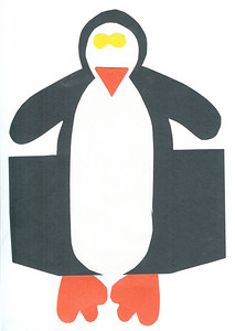 Penguin that stands up (unfolded). 1.22.2008