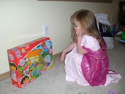 Ready to tear into the Dora legos.