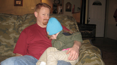 Kimber wasn't feeling too well and all she wanted was to sit with uncle Chad. In fact, I think she fell asleep right there.
