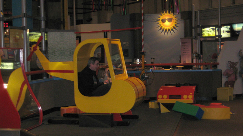 Getting ready for take off (at the Pacific Science Center).
