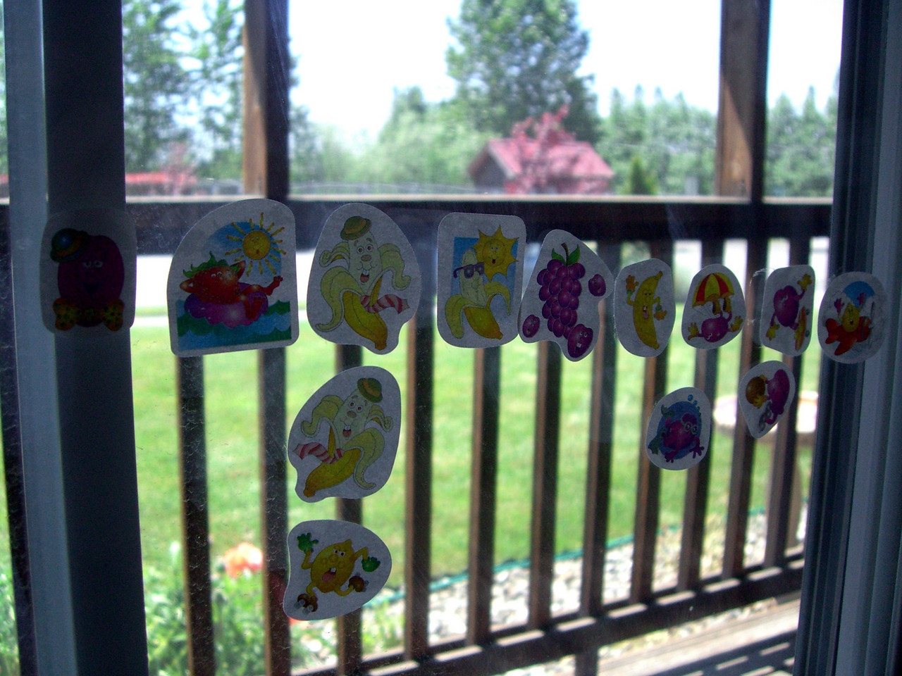 This is what happens when you give a 4 year old stickers and no warnings about where to use them. :)