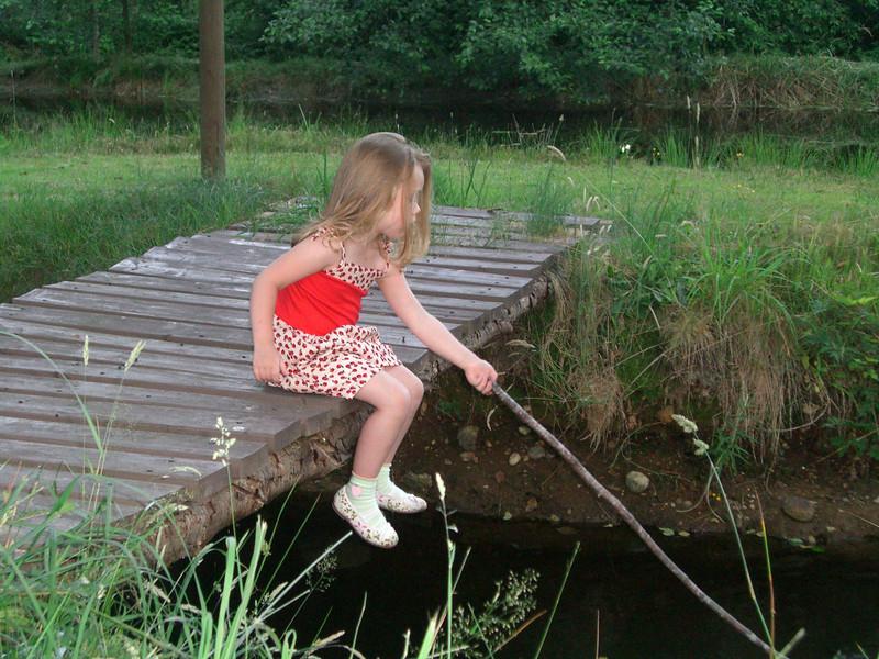 Papa's pond.