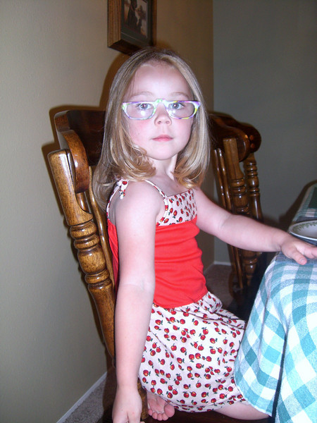 Looking smart with Meemaw's glasses