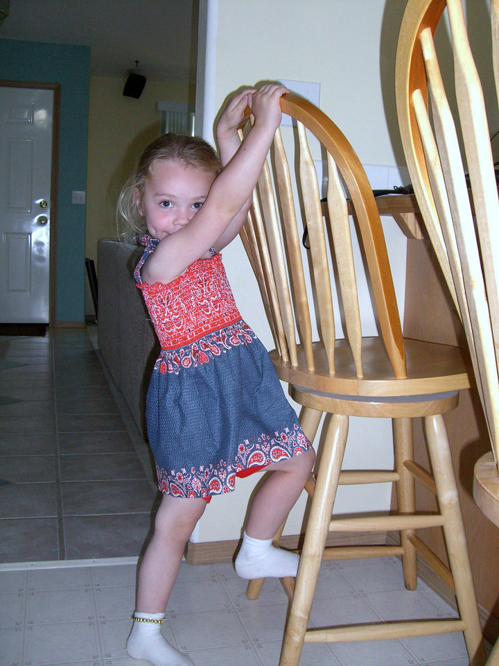Modeling a new dress made by Grandmama